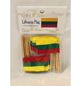 Toothpick Flags - Lithuania