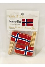 Toothpick Flags - Norway