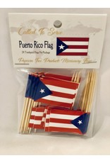 Toothpick Flags - Puerto Rico