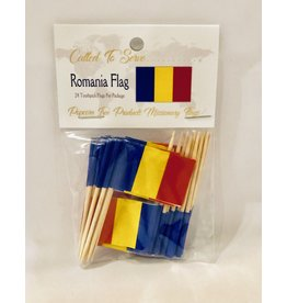 Toothpick Flags - Romania