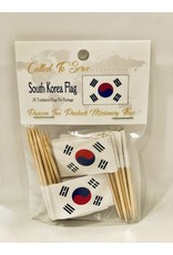 Toothpick Flags - South Korea