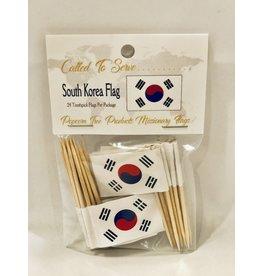 Toothpick Flags - South Korea