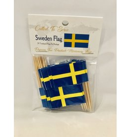 Toothpick Flags - Sweden
