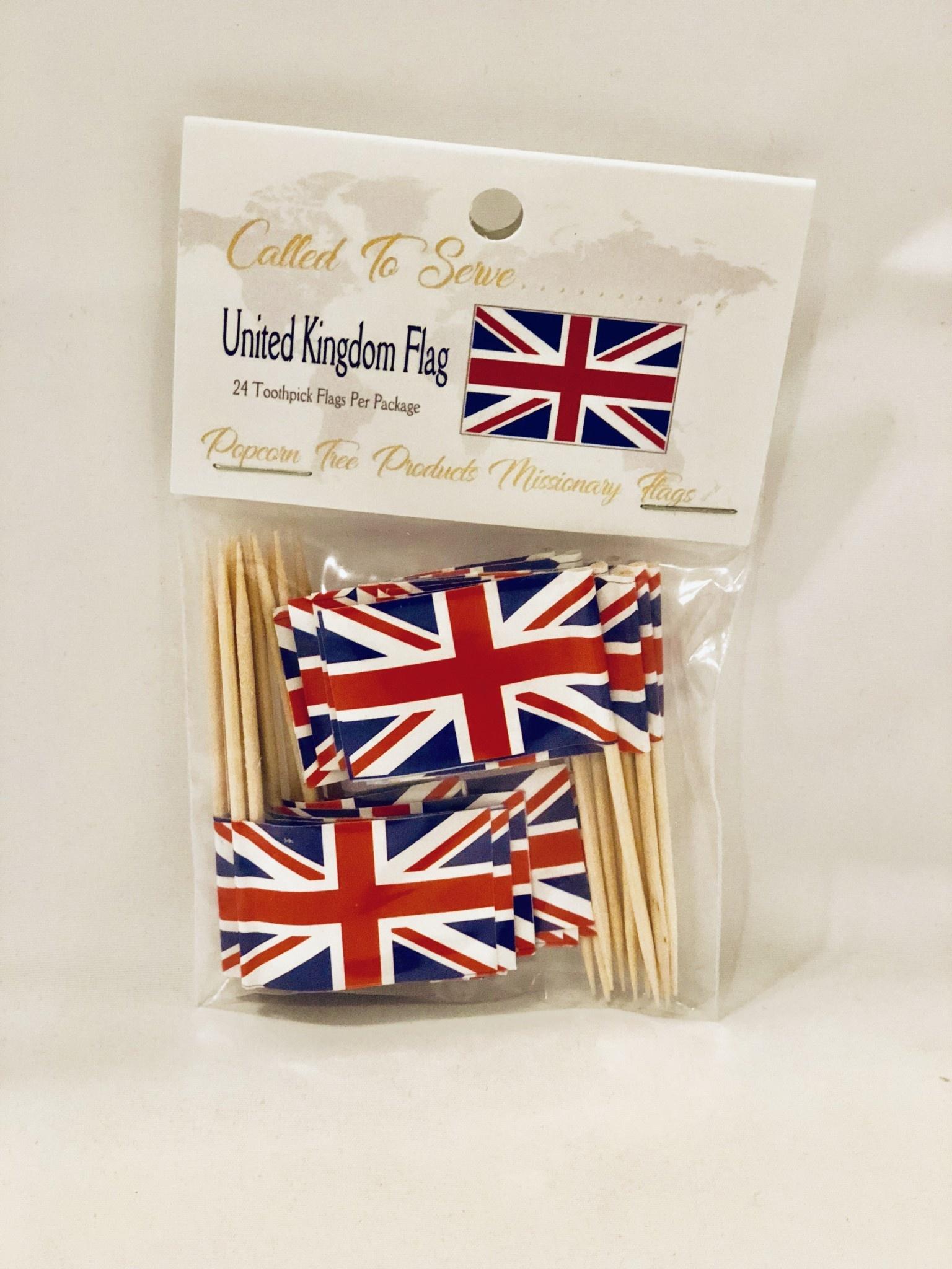 Toothpick Flags - United Kingdom