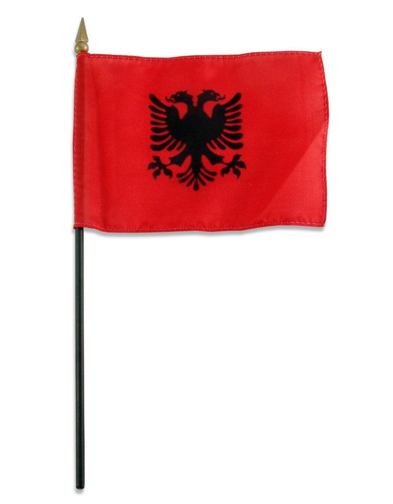"Stick Flag 4""x6"" - Albania"