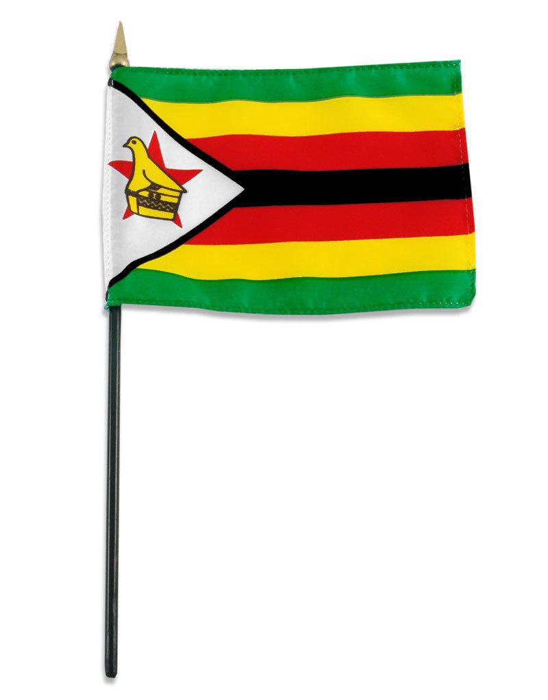 """Stick Flag 4""""x6"""" - Zimbabwe"""