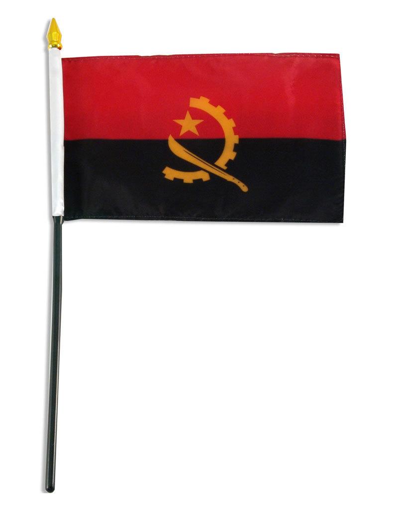 "Stick Flag 4""x6"" - Angola"