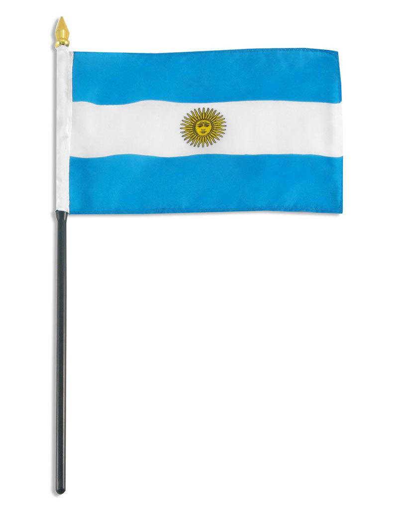 "Stick Flag 4""x6"" - Argentina"