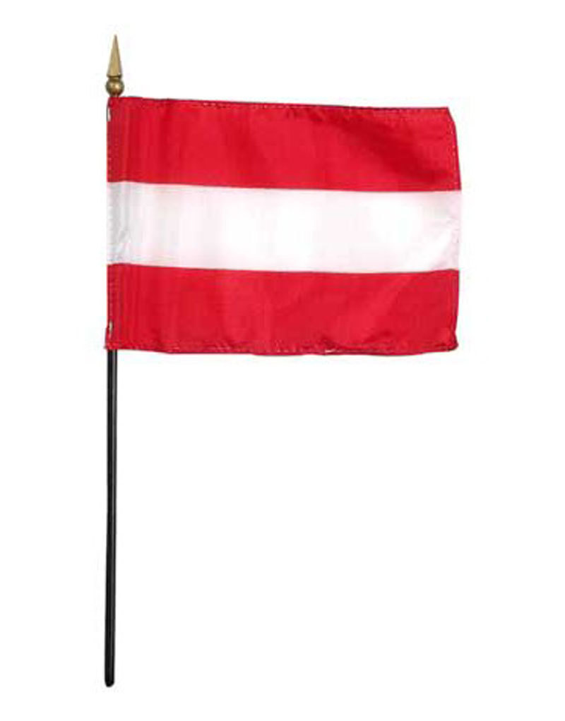 "Stick Flag 4""x6"" - Austria"