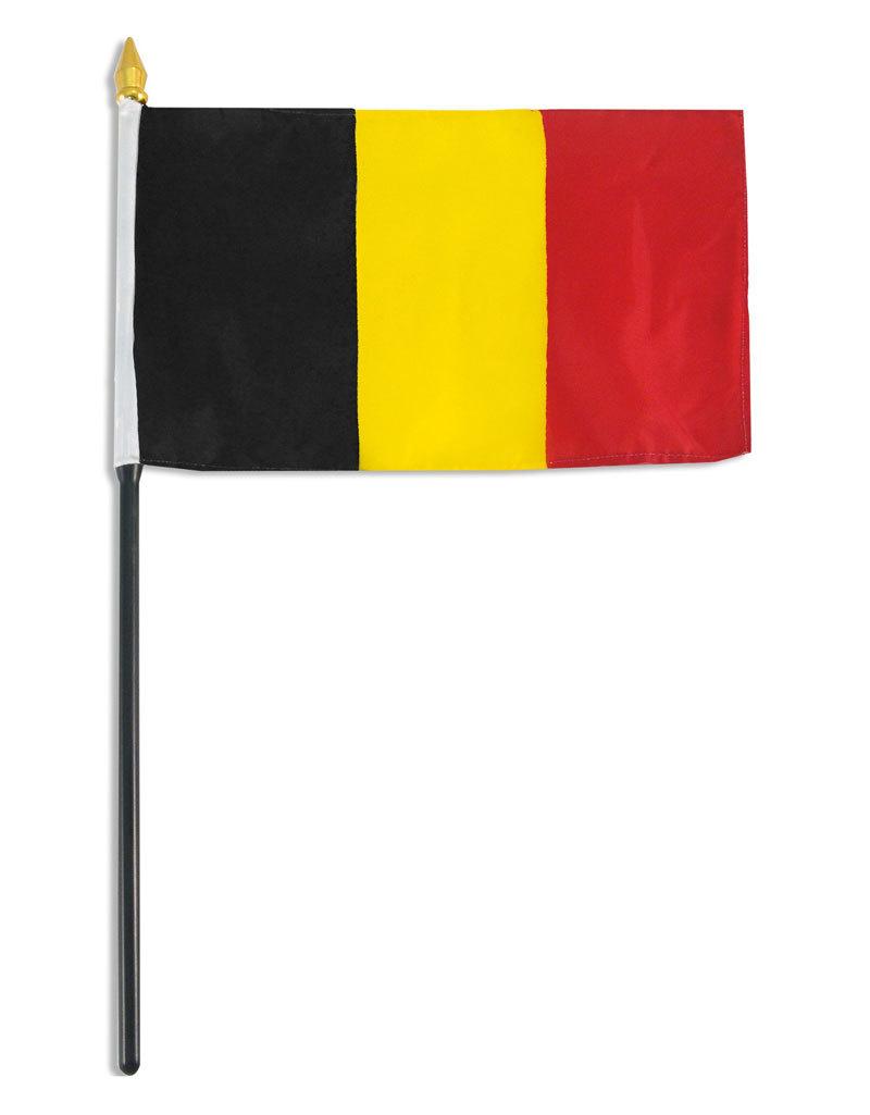 """Stick Flag 4""""x6"""" - Belgium"""