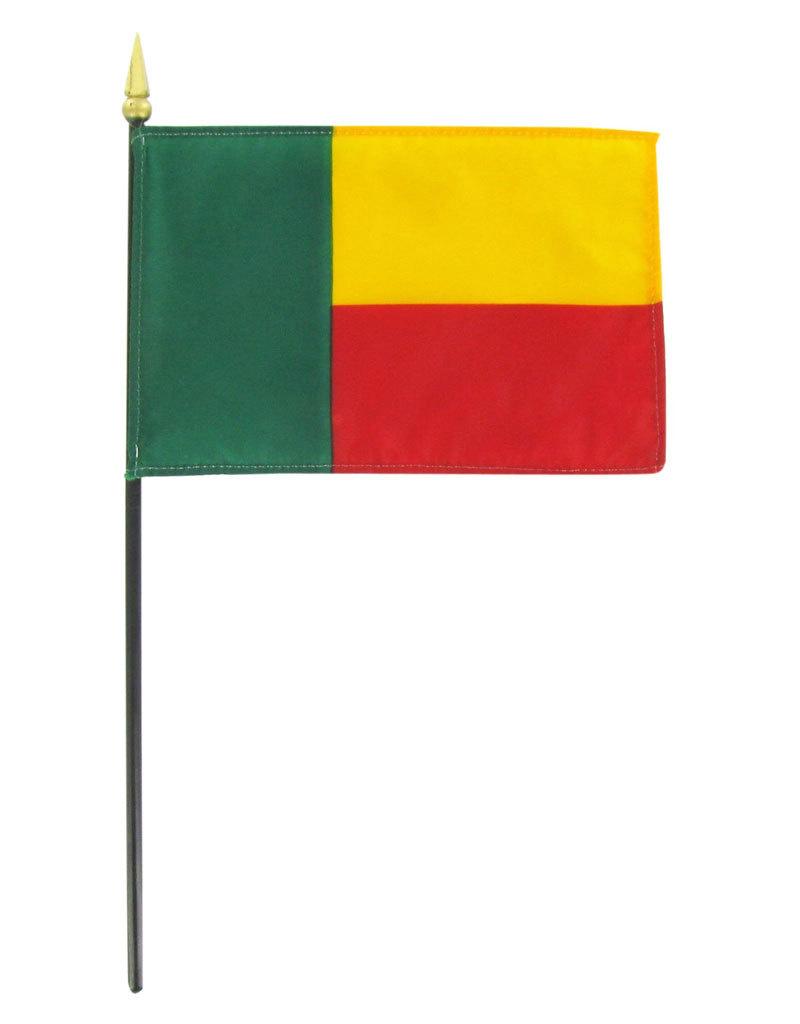 "Stick Flag 4""x6"" - Benin"