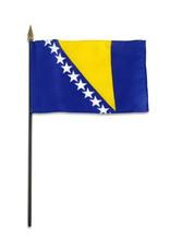 "Stick Flag 4""x6"" - Bosnia"