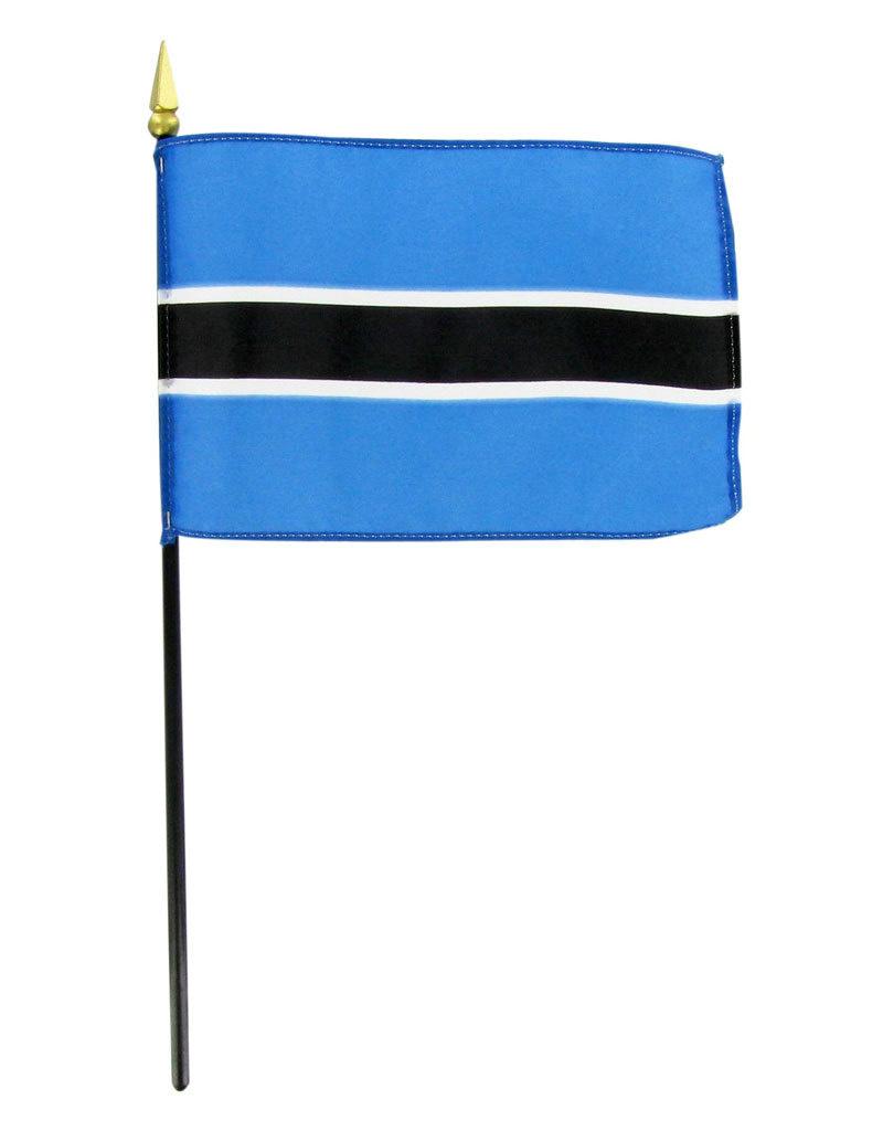 "Stick Flag 4""x6"" - Botswana"