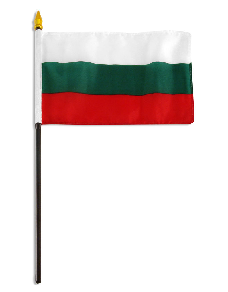 "Stick Flag 4""x6"" - Bulgaria"