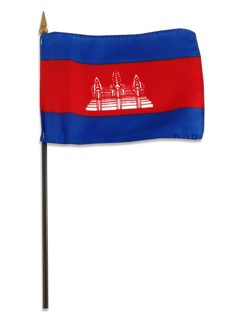 "Stick Flag 4""x6"" - Cambodia"