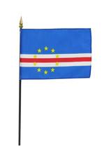 """Stick Flag 4""""x6"""" - Cape Verde"""