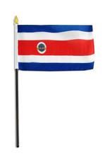 """Stick Flag 4""""x6"""" - Costa Rica"""