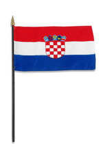 "Stick Flag 4""x6"" - Croatia"