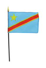 "Stick Flag 4""x6"" - Democratic Republic of Congo"