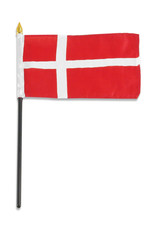 "Stick Flag 4""x6"" - Denmark"