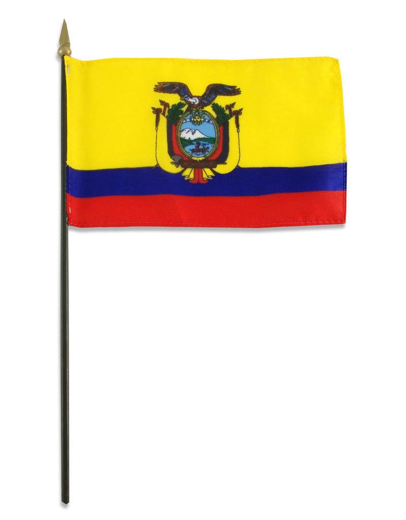 """Stick Flag 4""""x6"""" - Ecuador"""
