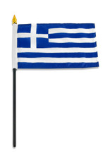 "Stick Flag 4""x6"" - Greece"