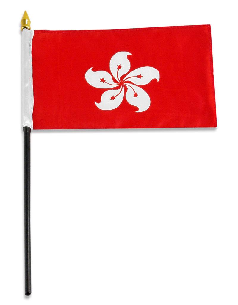"""Stick Flag 4""""x6"""" - Hong Kong"""