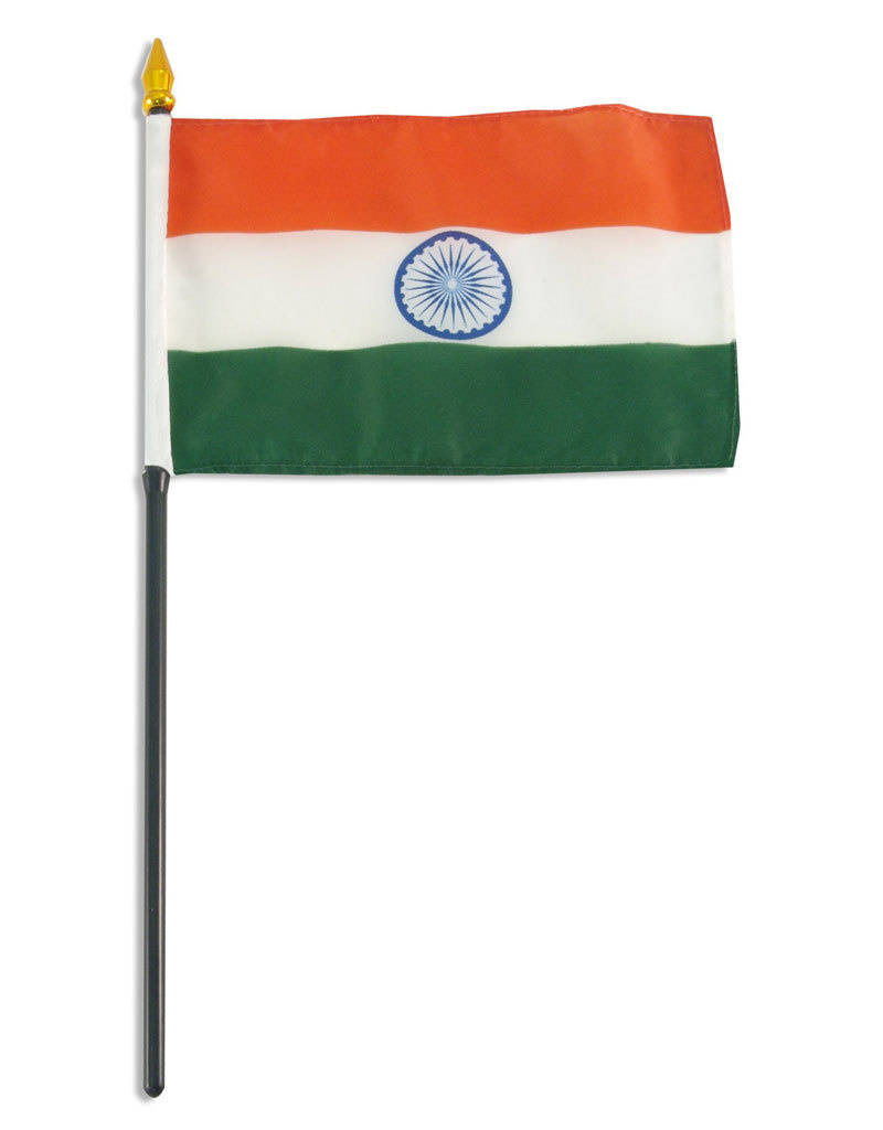 "Stick Flag 4""x6"" - India"