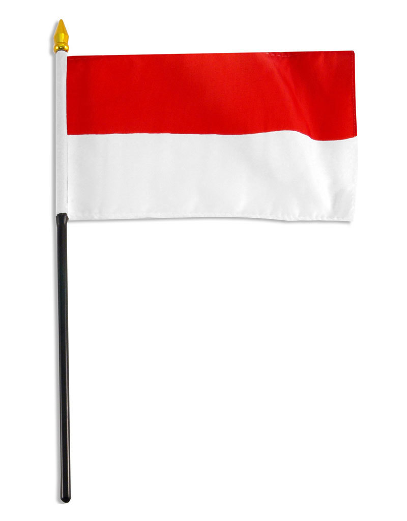 "Online Stores Stick Flag 4""x6"" - Indonesia"