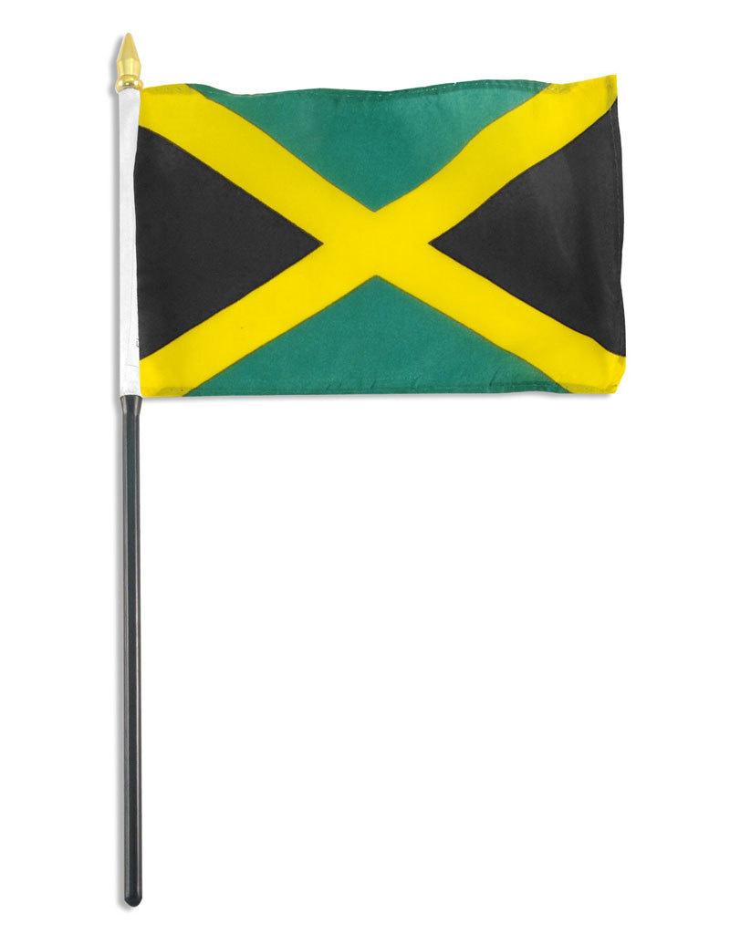 """Stick Flag 4""""x6"""" - Jamaica"""