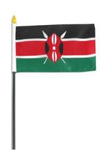 """Stick Flag 4""""x6"""" - Kenya"""