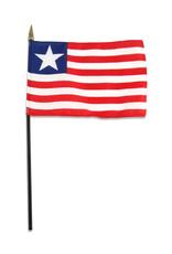 "Stick Flag 4""x6"" - Liberia"