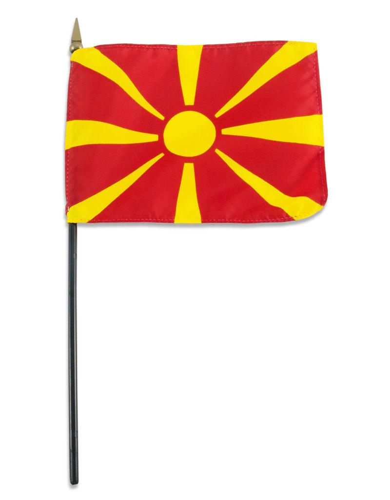 "Stick Flag 4""x6"" - Macedonia"