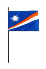 "Stick Flag 4""x6"" - Marshall Islands"