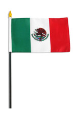 "Stick Flag 4""x6"" - Mexico"