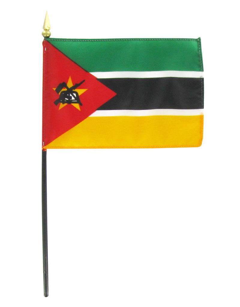 """Stick Flag 4""""x6"""" - Mozambique"""