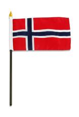 "Stick Flag 4""x6"" - Norway"