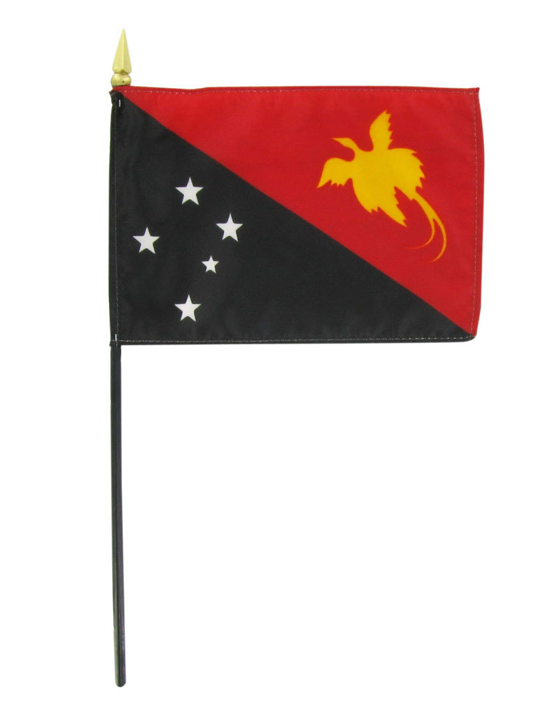 "Stick Flag 4""x6"" - Papua New Guinea"