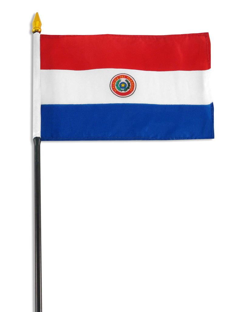 """Stick Flag 4""""x6"""" - Paraguay"""