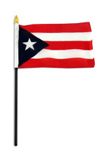 "Stick Flag 4""x6"" - Puerto Rico"