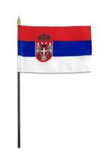 """Stick Flag 4""""x6"""" - Serbia"""