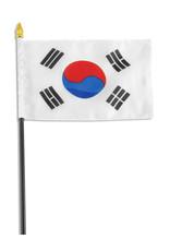 """Stick Flag 4""""x6"""" - South Korea"""
