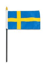 "Stick Flag 4""x6"" - Sweden"