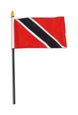 "Stick Flag 4""x6"" - Trinidad & Tobago"