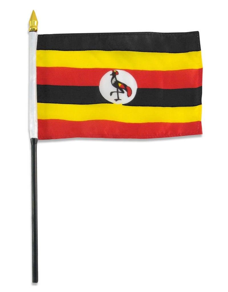 "Stick Flag 4""x6"" - Uganda"