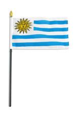 "Stick Flag 4""x6"" - Uruguay"