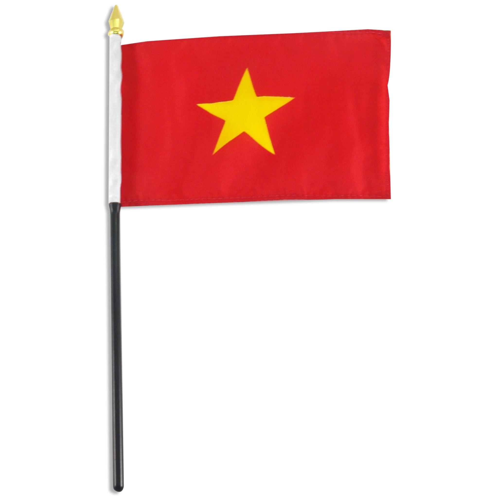 """Stick Flag 4""""x6"""" - Vietnam"""