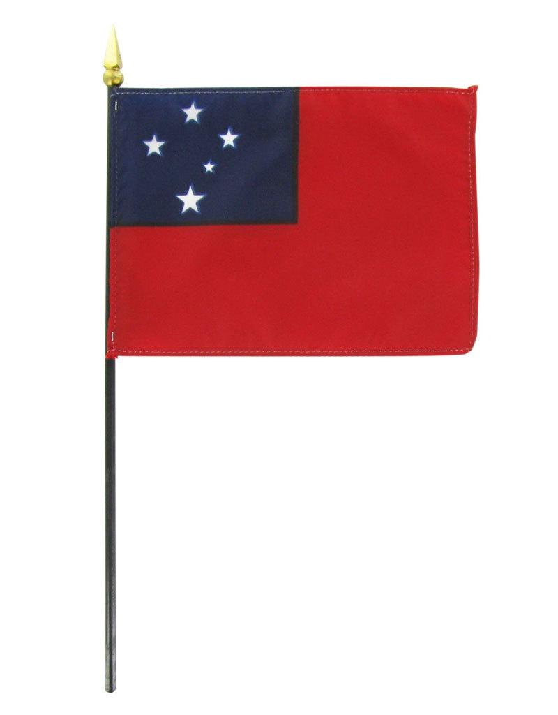 "Stick Flag 4""x6"" - Western Samoa"