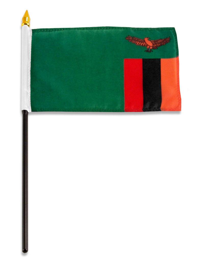 "Stick Flag 4""x6"" - Zambia"