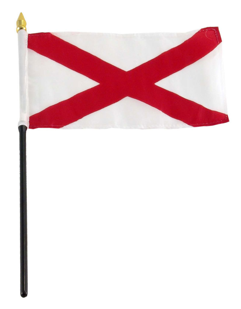 "Stick Flag 4""x6"" - Alabama"